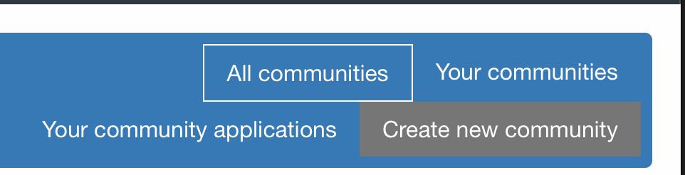 Create community menu